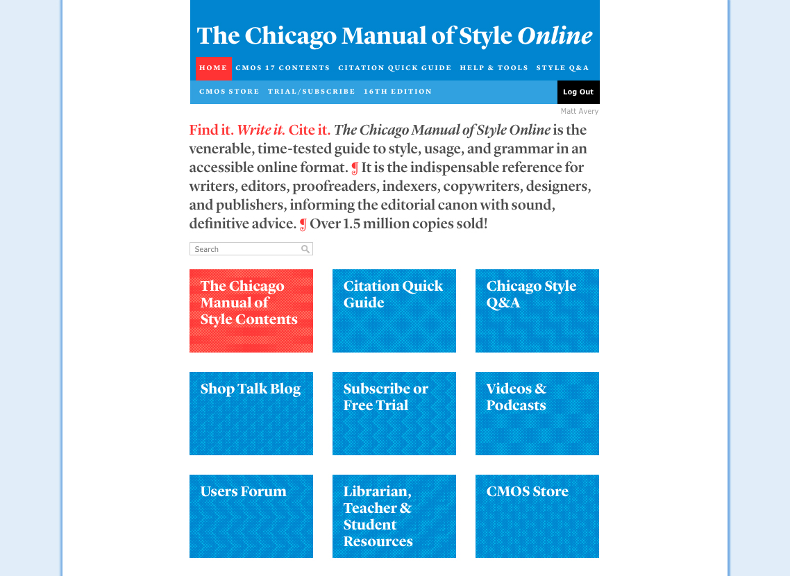 chicago manual of style format